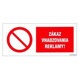 Etikety Info - Zákaz vhadzovania reklamy 262x115 mm